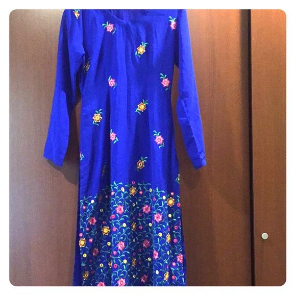 Dresses & Skirts - Shalwar kameez in royal blue